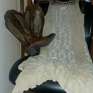 A' Reve Lace and Tassle Fringe Dress Boho